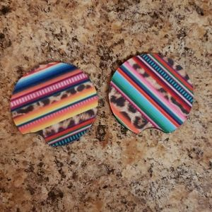 Other - Colorful stripe round car coasters